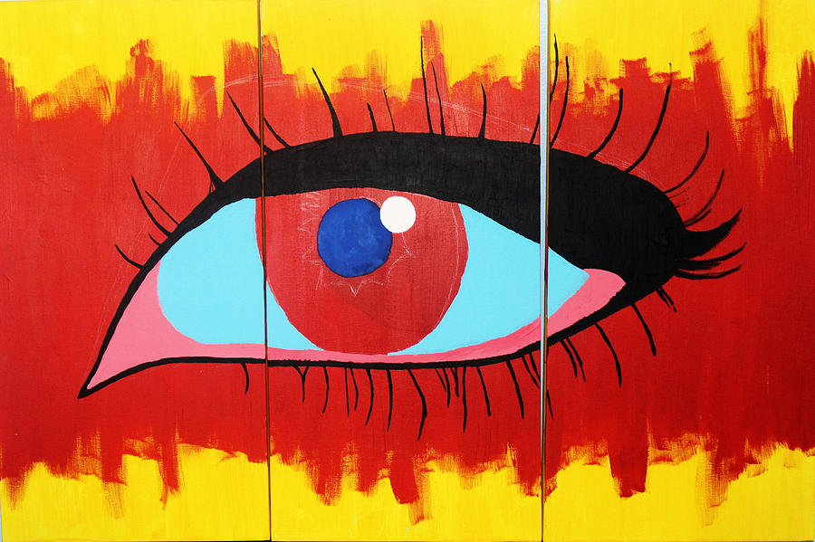Eye Painting - Detached From Reality by John Wesley