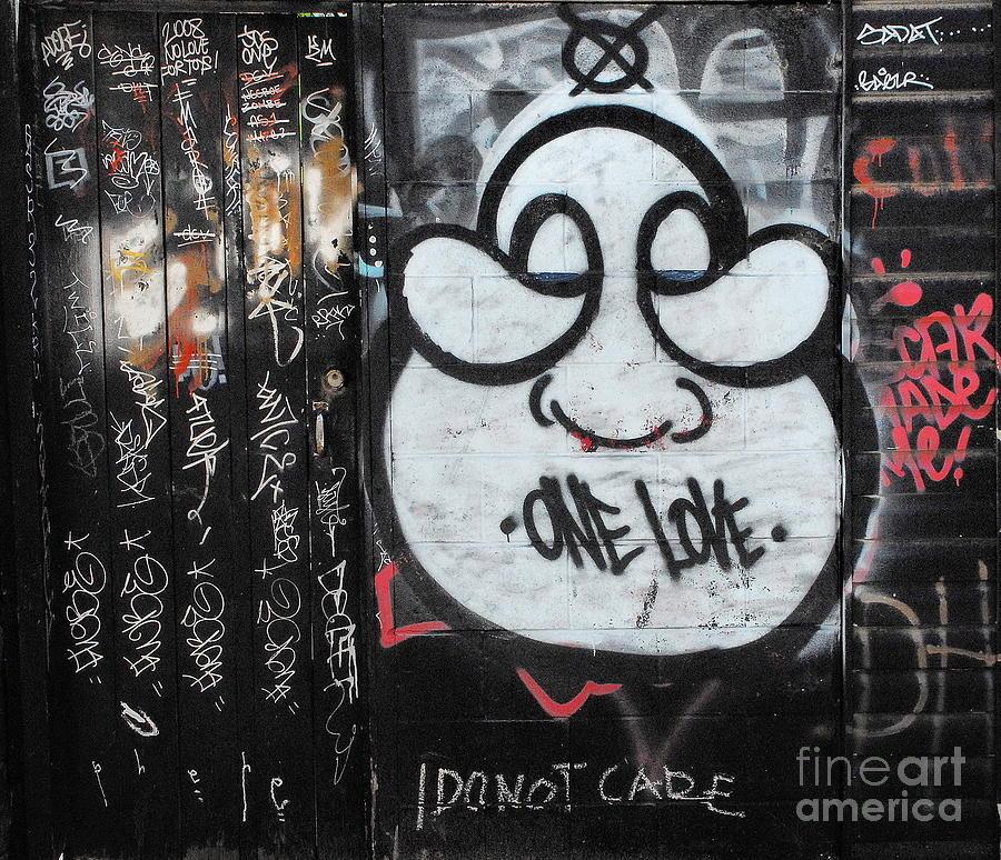 Graffiti Photograph - Detachment From Outcome by Andrea Kollo