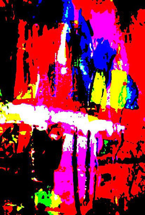 Abstract Digital Art Painting - Detachment by Jennifer Wilson