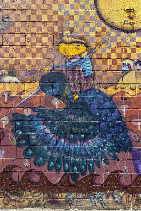 Mural Photograph - Detail - Mural Coney Island by Robert Ullmann