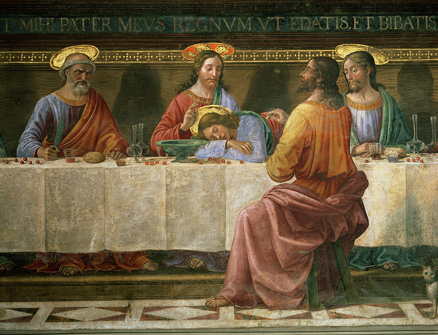 Detail Painting - Detail From The Last Supper by Domenico Ghirlandaio