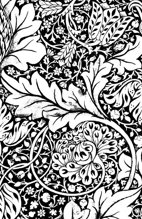 Detail Of A Vintage Textile Pattern Design By William Morris