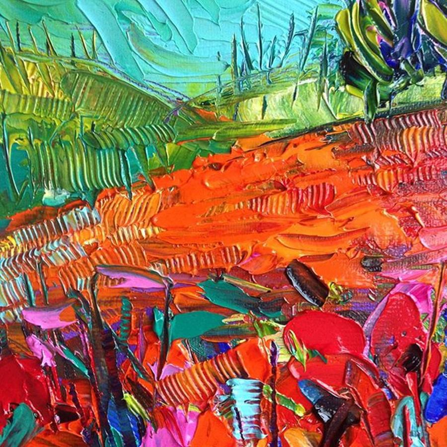 Abstract Photograph - Detail Of New #paletteknife by Mona Edulesco