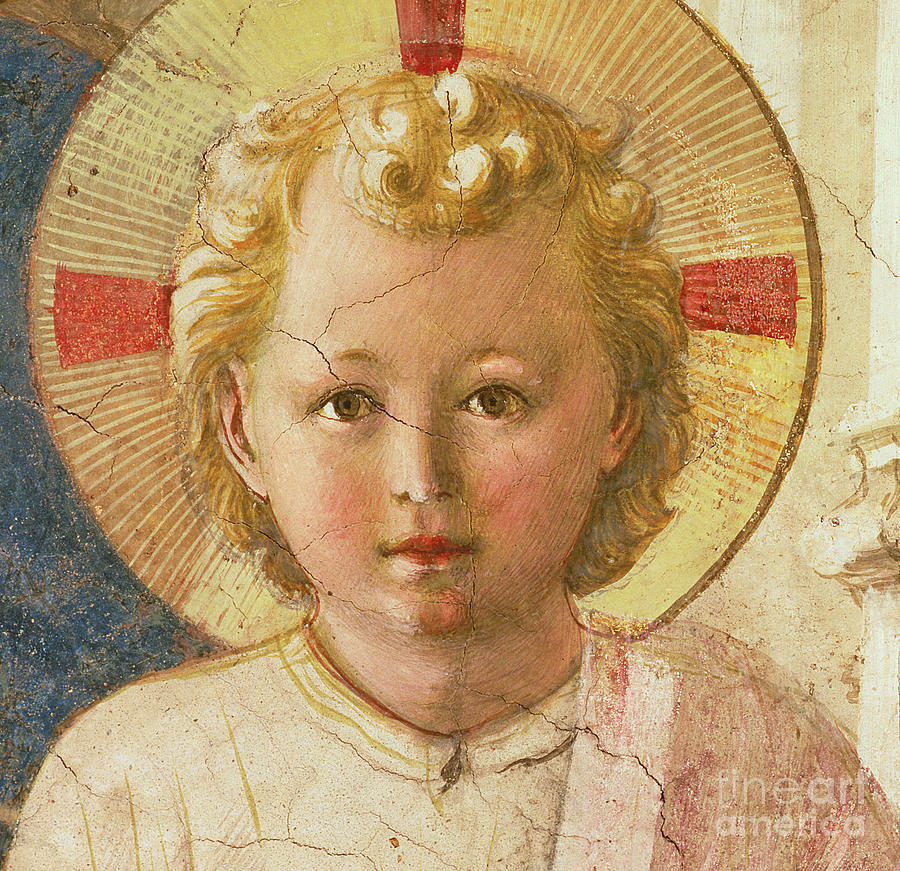 Fra Angelico Painting - Detail Of The Christ Child From The Madonna Delle Ombre by Fra Angelico