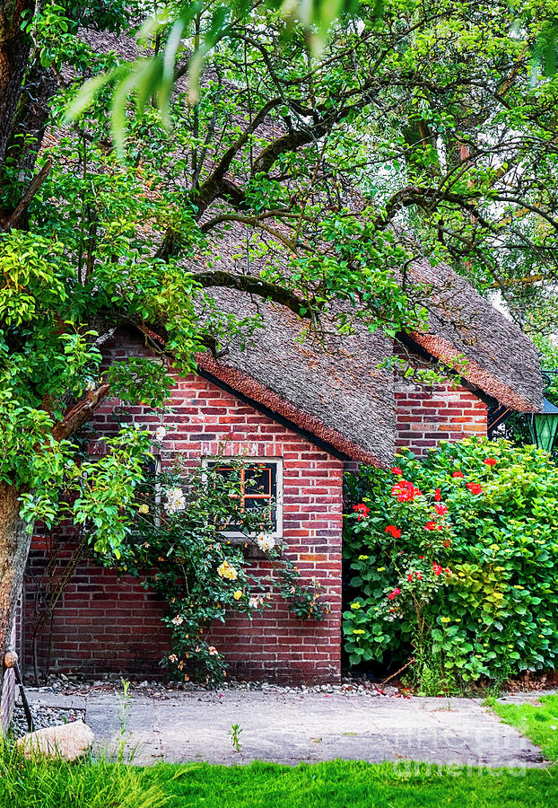 Water Photograph - Detail Of Typical Dutch Old Yard by Ariadna De Raadt