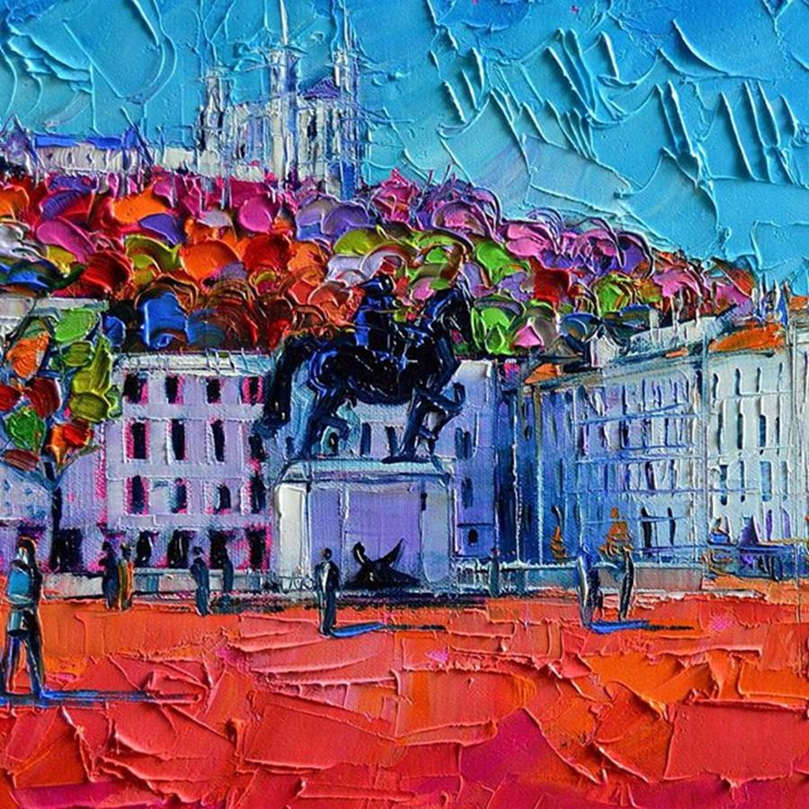 Bellecour Photograph - Detail Of Urban Impression - Place by Mona Edulesco
