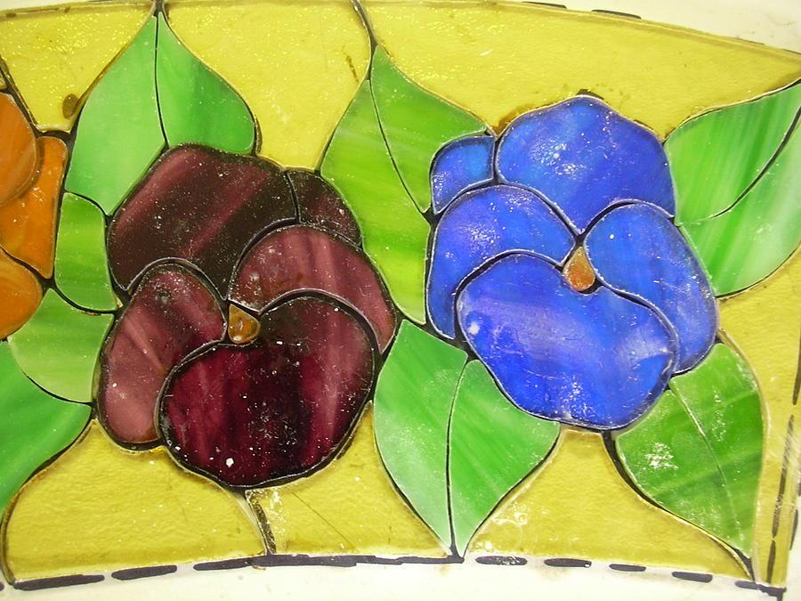 Detail Of Vidriera De Los Pensamientos Glass Art by Justyna Pastuszka