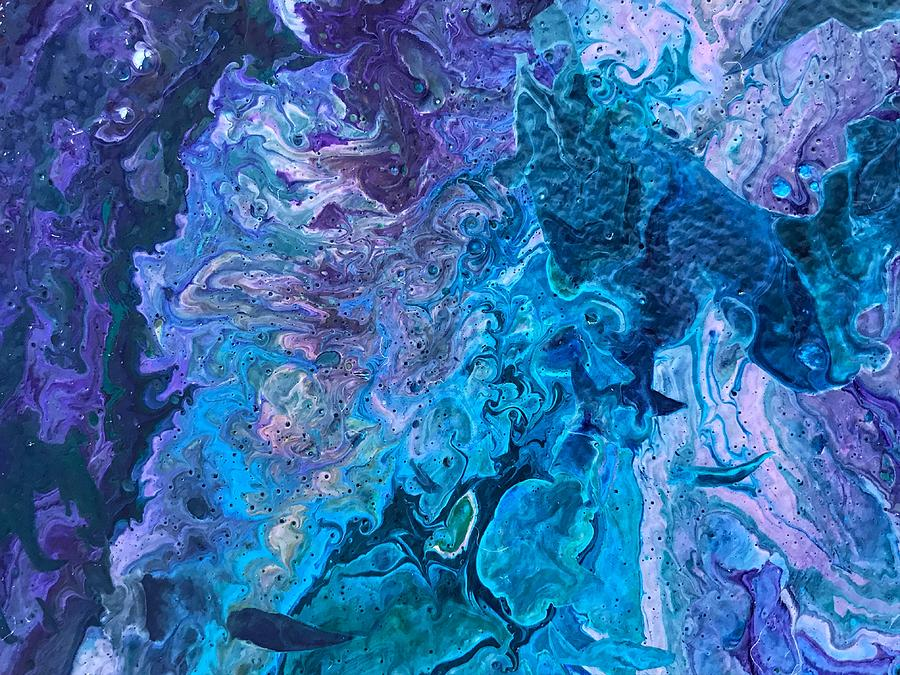 Fluid Painting - Detail of Waves 6 by Robbie Masso