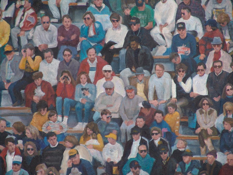 Detail Of West Point Crowd Painting by James Sparks