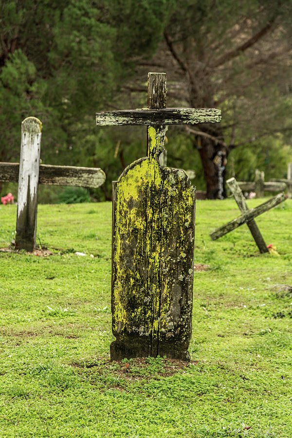 Landscape Photograph - Detail Of Wooden Cross by Javier Flores
