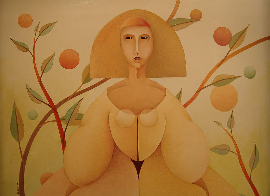 Sacha Circulism Painting - Detailed La Menina 2009 by S A C H A -  Circulism Technique