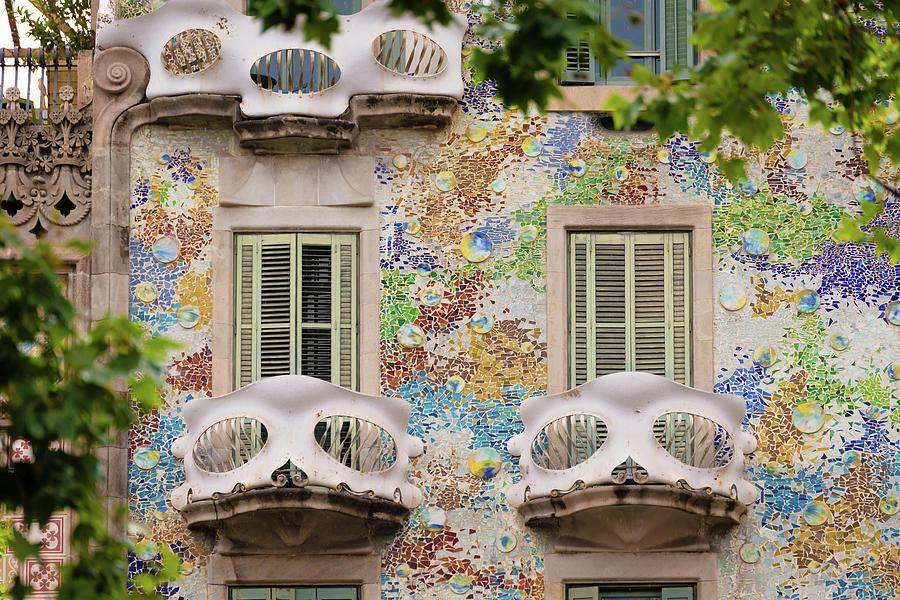 Passeig De Gracia Photograph - Details Of Casa Batllo In Barcelona 2, Spain by Blaz Gvajc