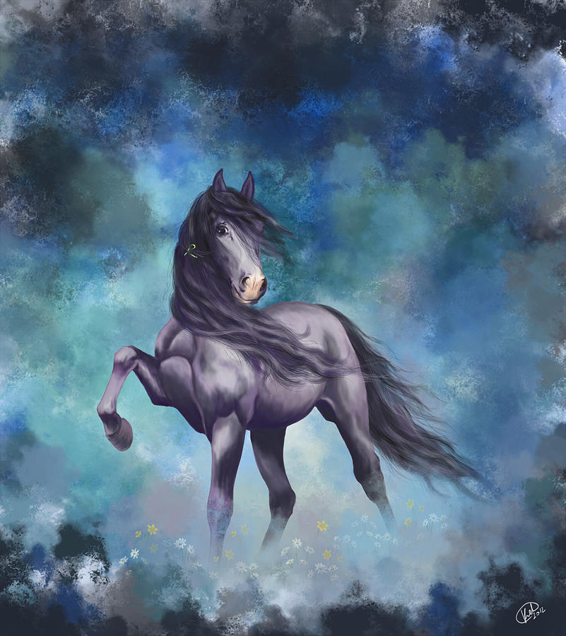 Horse Painting - Determination by Kate Black