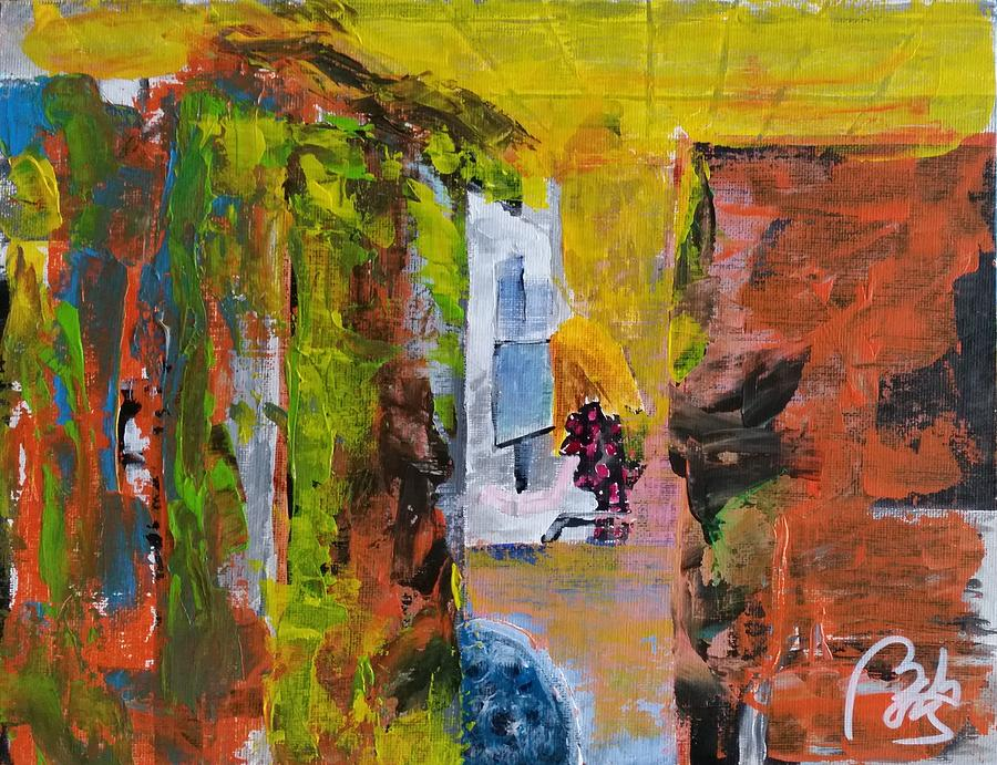 Process Painting - Detritus I Woman working by Bachmors Artist