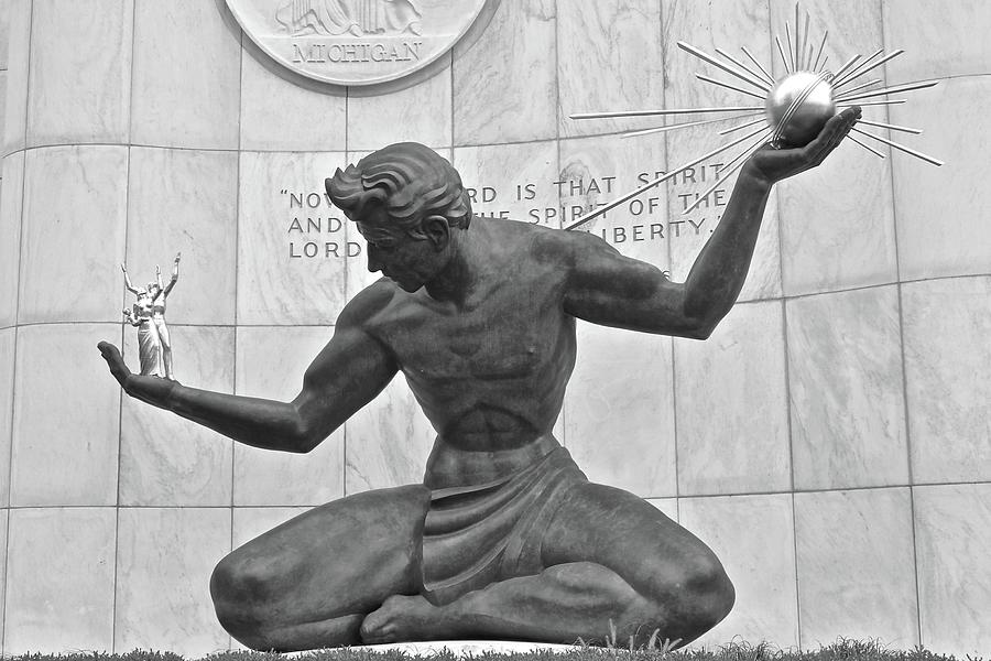 Detroit Photograph - Detroit Michigan Statue by Frozen in Time Fine Art Photography