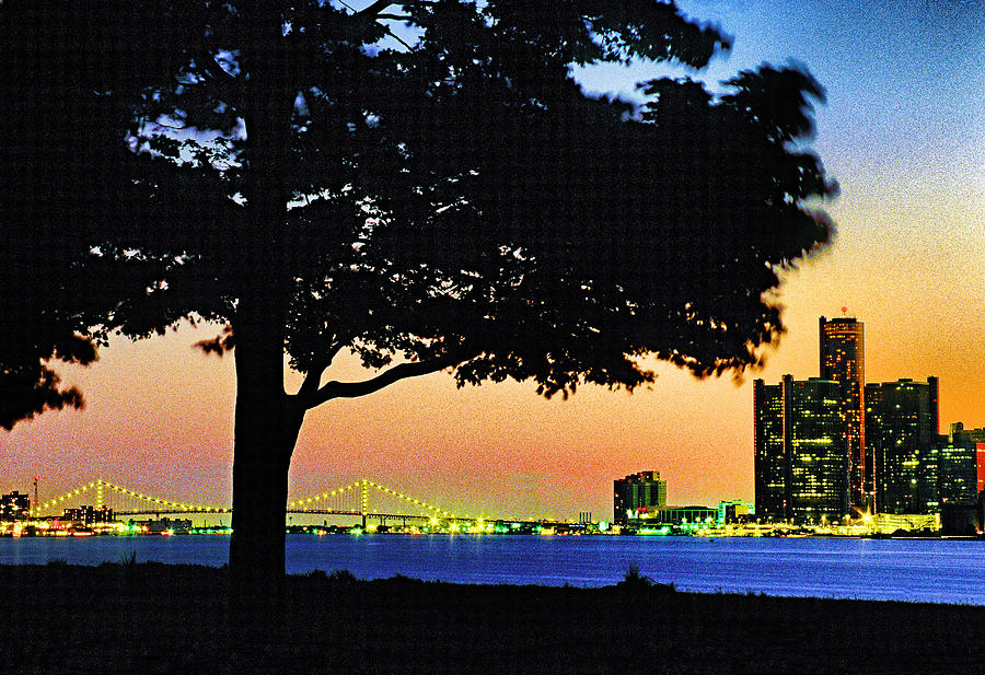 Usa Photograph - Detroit River View by Dennis Cox WorldViews