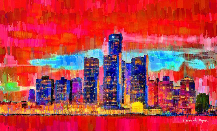 Detroit Skyline 103 - Pa Painting