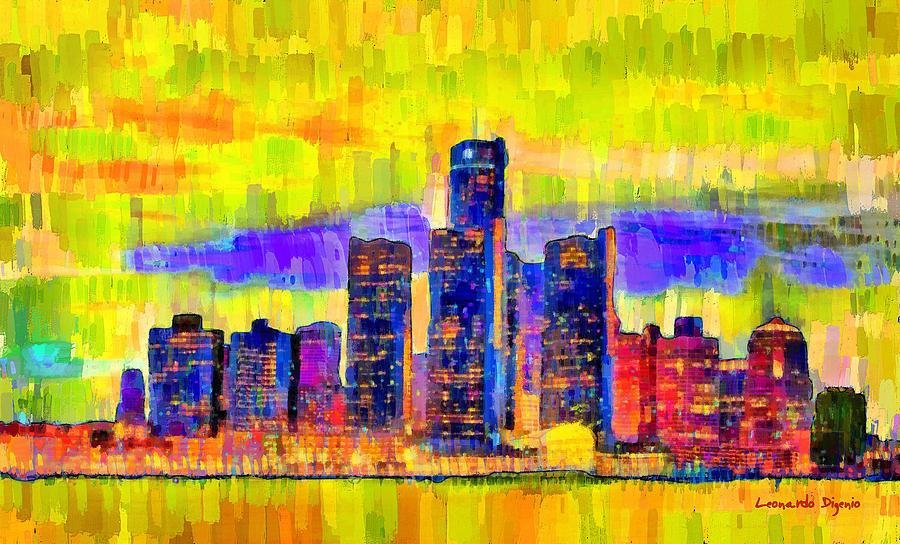 Detroit Skyline 104 - Pa Painting