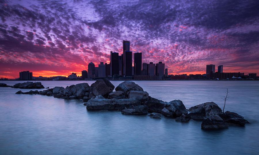 Detroit Photograph - Detroit Skyline Clouds by Cale Best