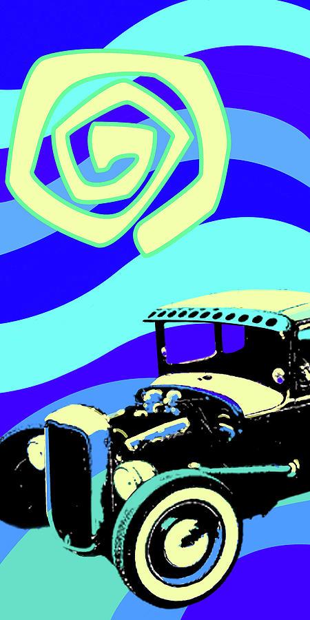 Deuce Coupe Blue by Larry Hunter