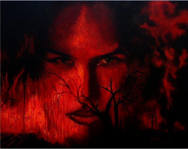 Deforestation Painting - Devastating Deforestation by Viktoria K Majestic