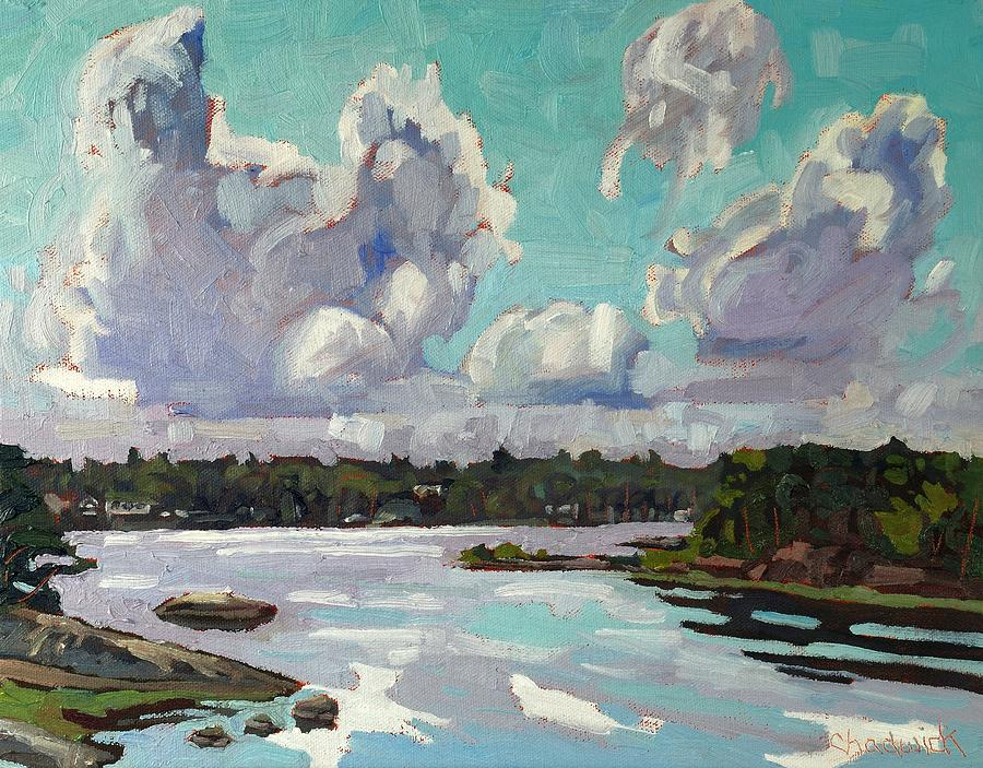 Showers Painting - Developing Showers by Phil Chadwick