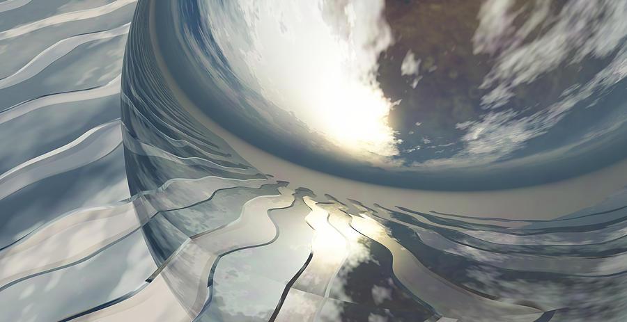 Fantasy Digital Art - Deviating World by Richard Rizzo
