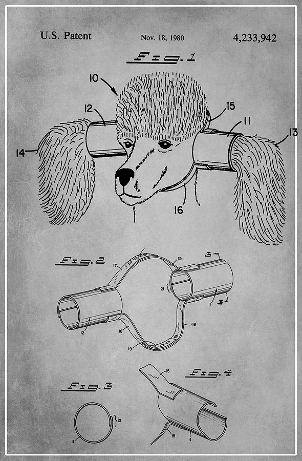 Patent Mixed Media - Device For Protecting Animal Ears Patent Drawing 1l by Brian Reaves