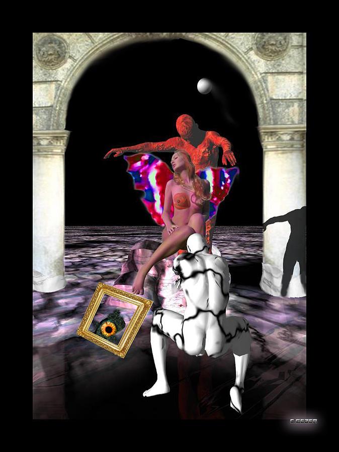 Nu Digital Art - Devil In Mrs Jones by Gezer Coskun