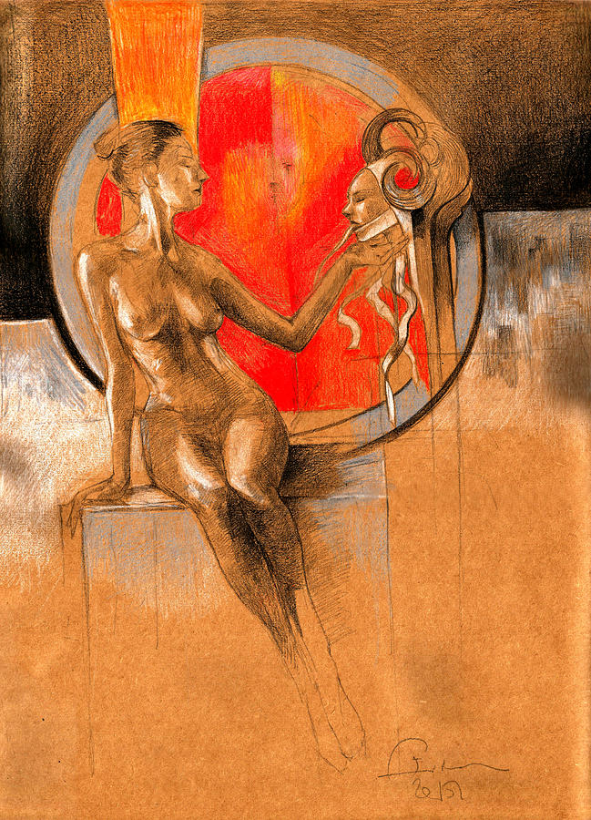 Devil Painting - Devil Inside by Ertan Aktas