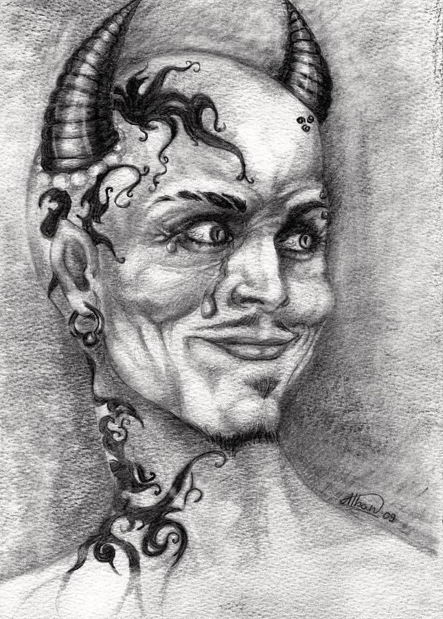 Satan Drawing - Devil May Cry by Alban Dizdari