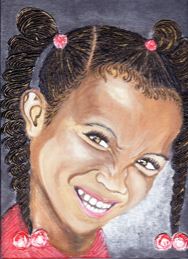 Smile Painting - Devilish Grin  by Keenya  Woods