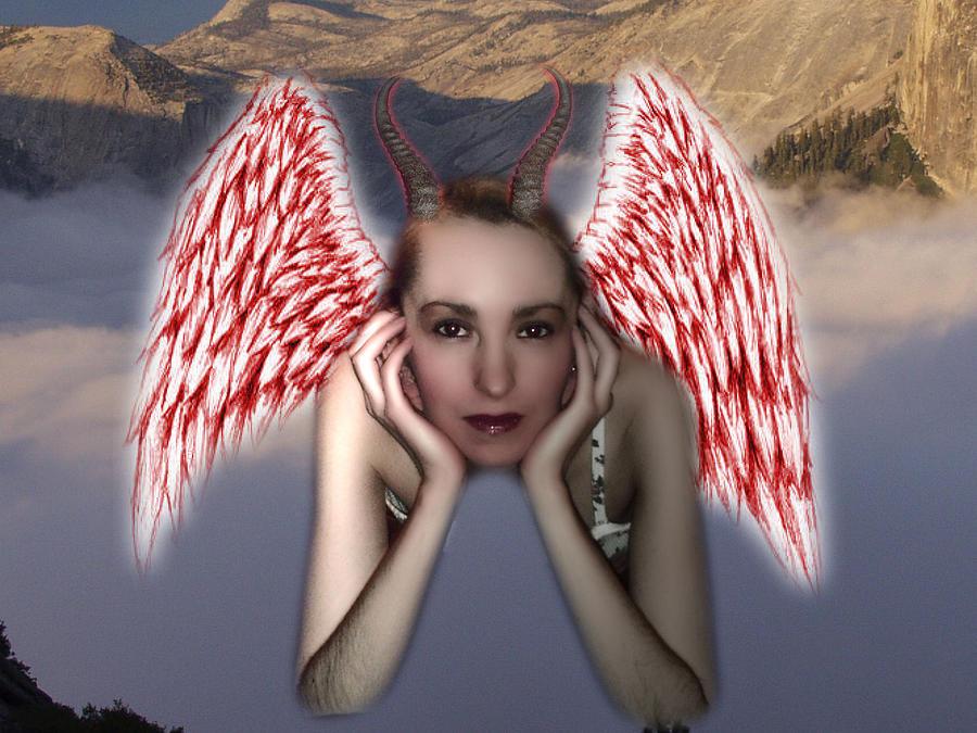 Angel Digital Art - Devils Angel 2.0 by Jason Stephenson