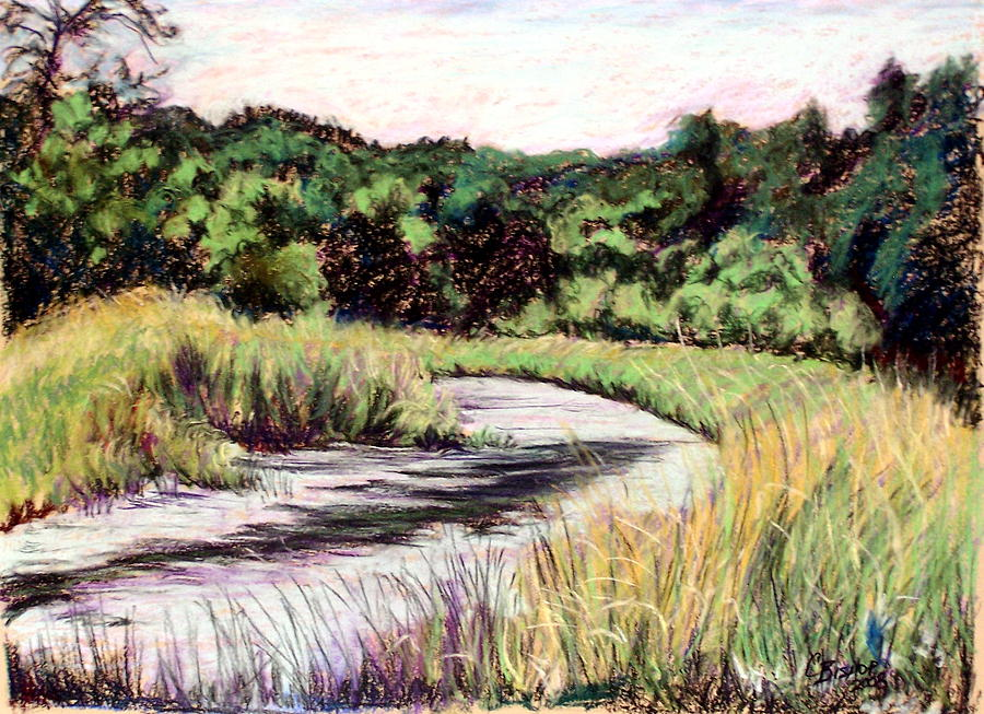 River Painting - Devils Bend by Carolyn Bishop