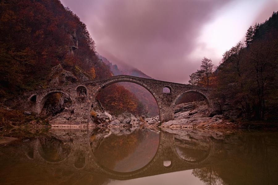 Bridge Photograph - Devils Bridge by Evgeni Dinev