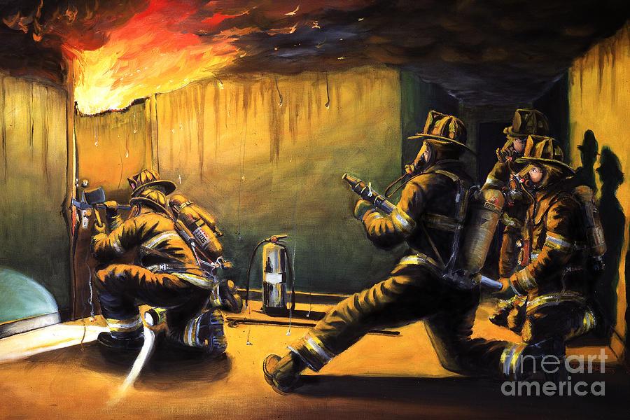 Firefighting Painting - Devils Doorway II by Paul Walsh