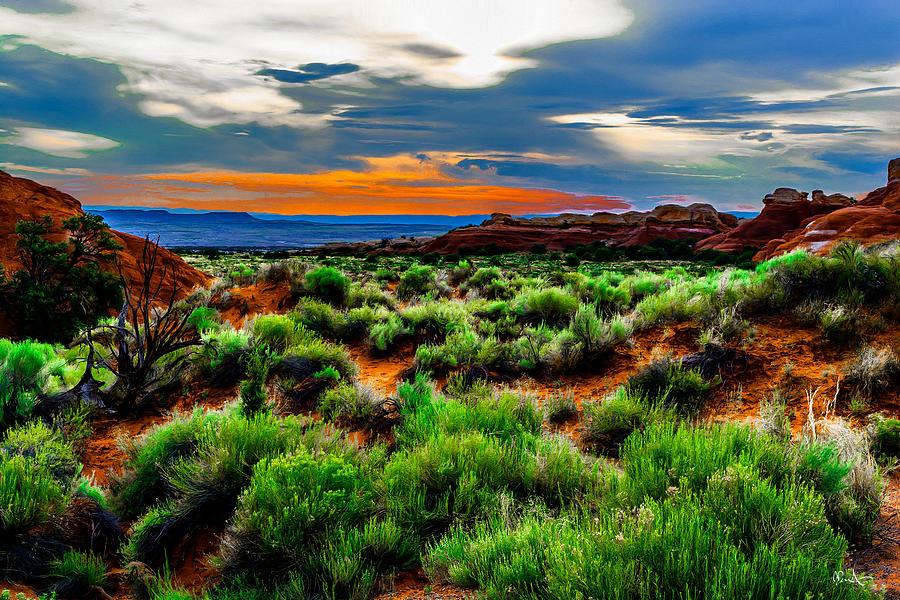 Landscape Photograph - Devils Garden Trail by Dean Arneson