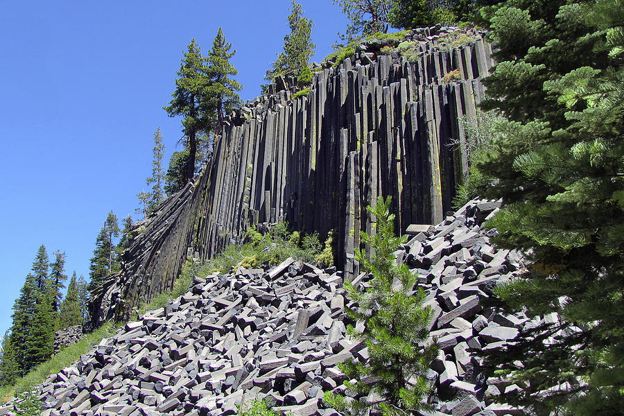 Symmetrical Photograph - Devils Postpile - Natures Masterpiece by Christine Till