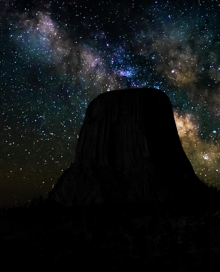 Devils Tower and Milky Way by Scott Read