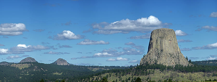 Devils Tower Photograph - Devils Tower And The Missouri Hills by George Sanquist