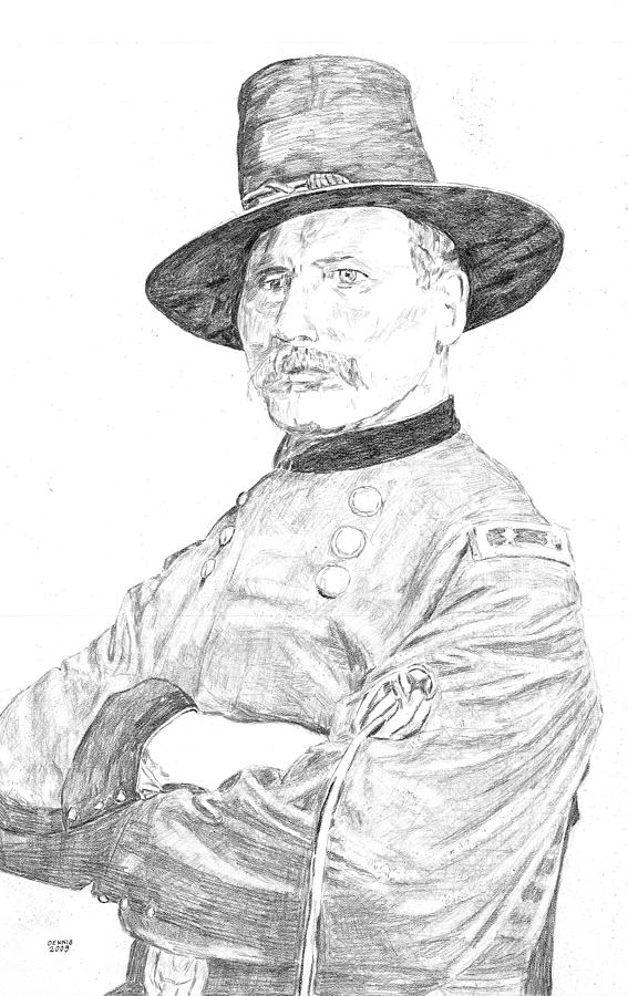 American Civil War Drawing - Devin by Dennis Larson