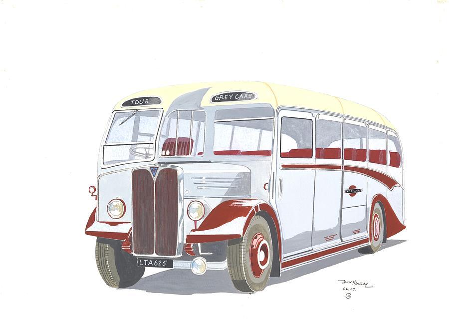 Transportation Painting - Devon General Aec Regal by John Kinsley