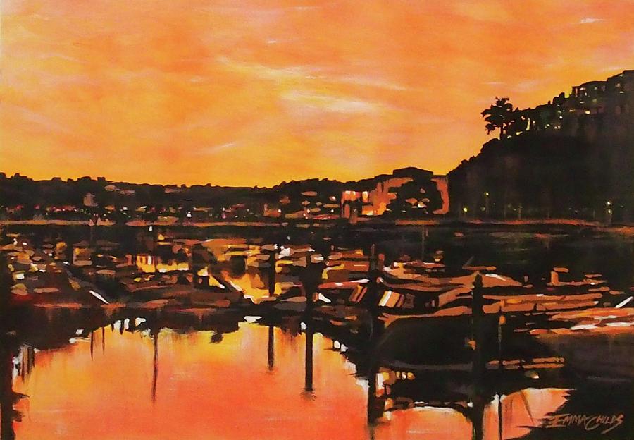 Devon Sunset Painting