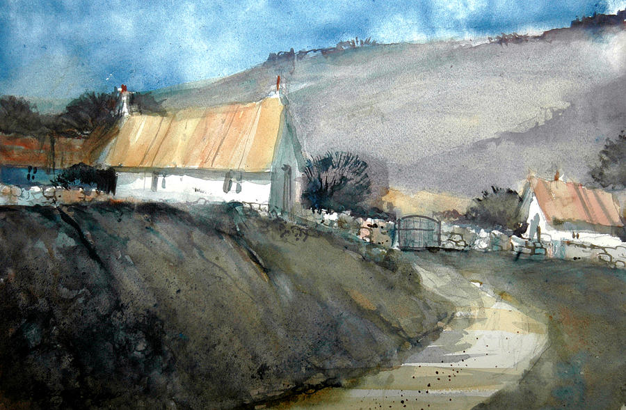 Devon Painting - Devonshire Farm by Charles Rowland