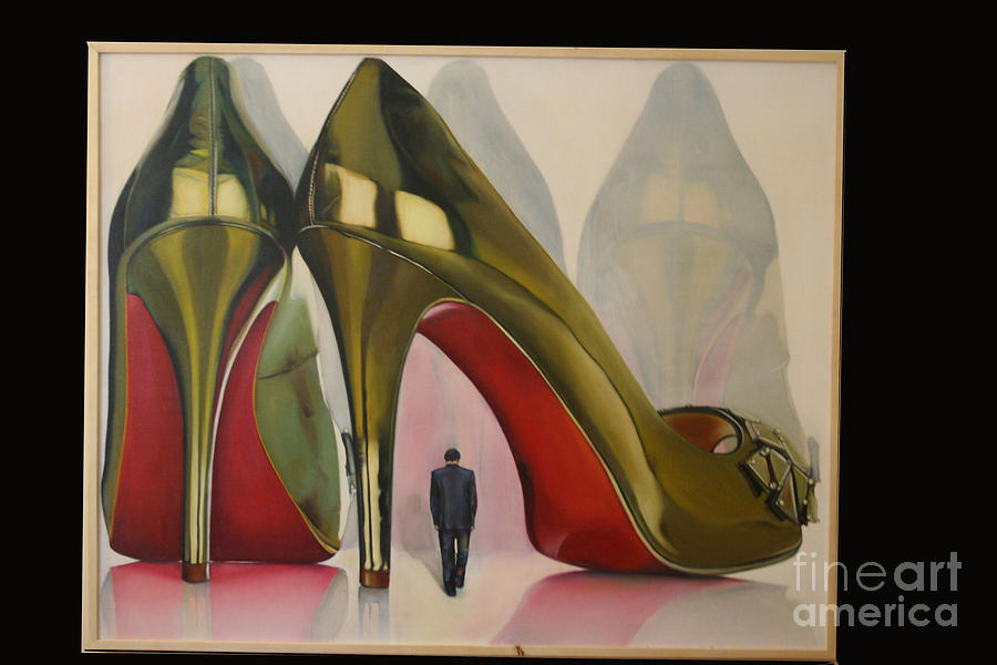 Shoes Painting - Devotion by Aisha Gul