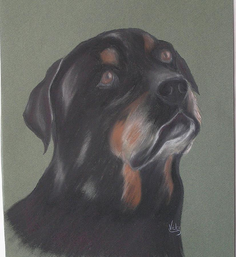 Rotti Pastel - Devotion by Vicki Thompson