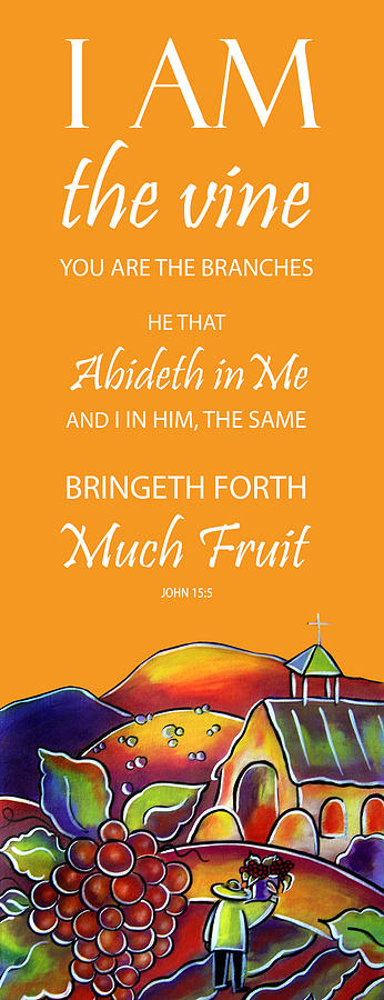 Devotional Art Banner - Scripture from John  by Jan Oliver-Schultz