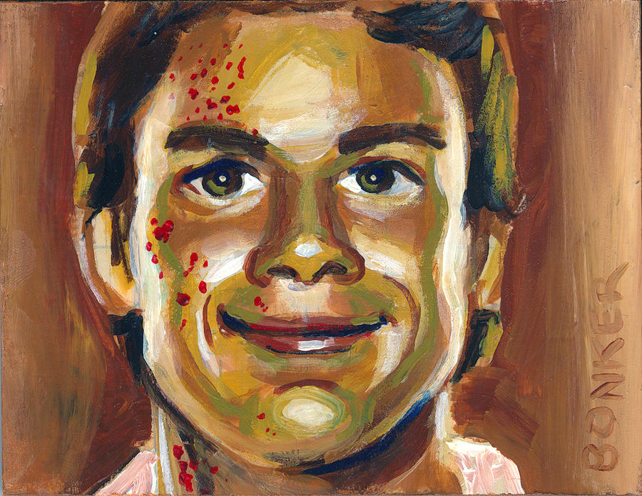 Dexter Morgan Painting - Dexter by Buffalo Bonker