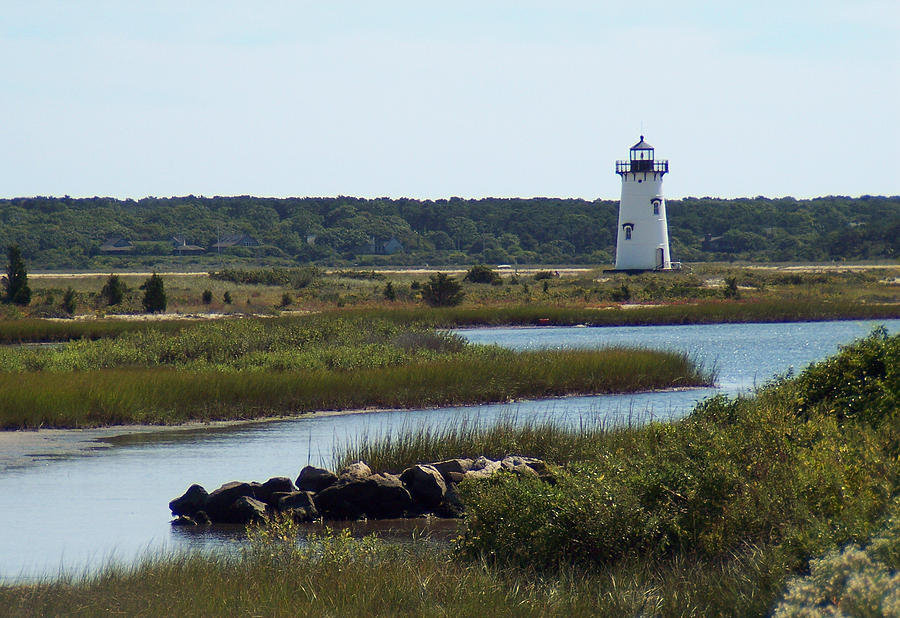 Edgartown Harbor Lighthouse by Paul and Janice Russell