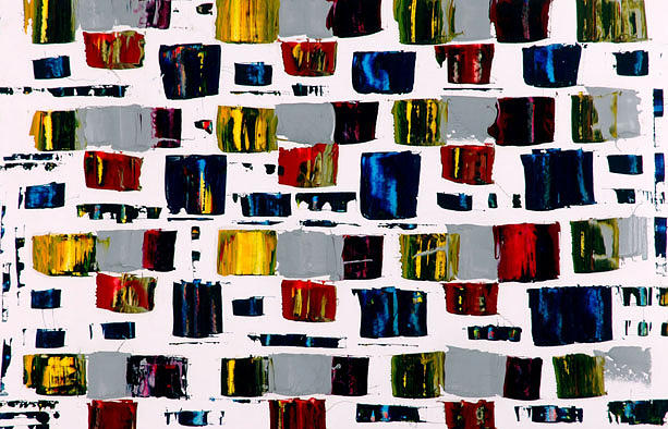 Abstract Painting - Dhobi Ghat by Vishwesh Sant